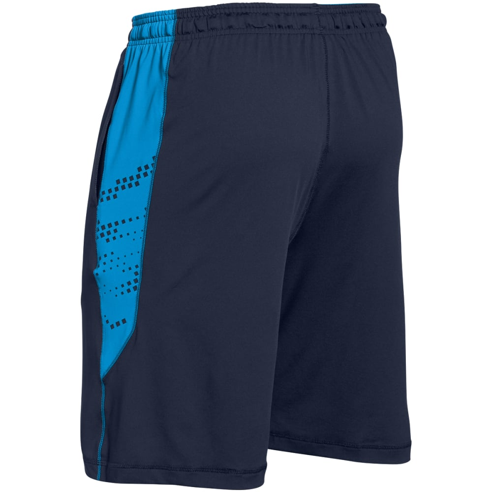 UNDER ARMOUR Men's HeatGear® Raid Graphic Shorts - NAVY/BLUE-410