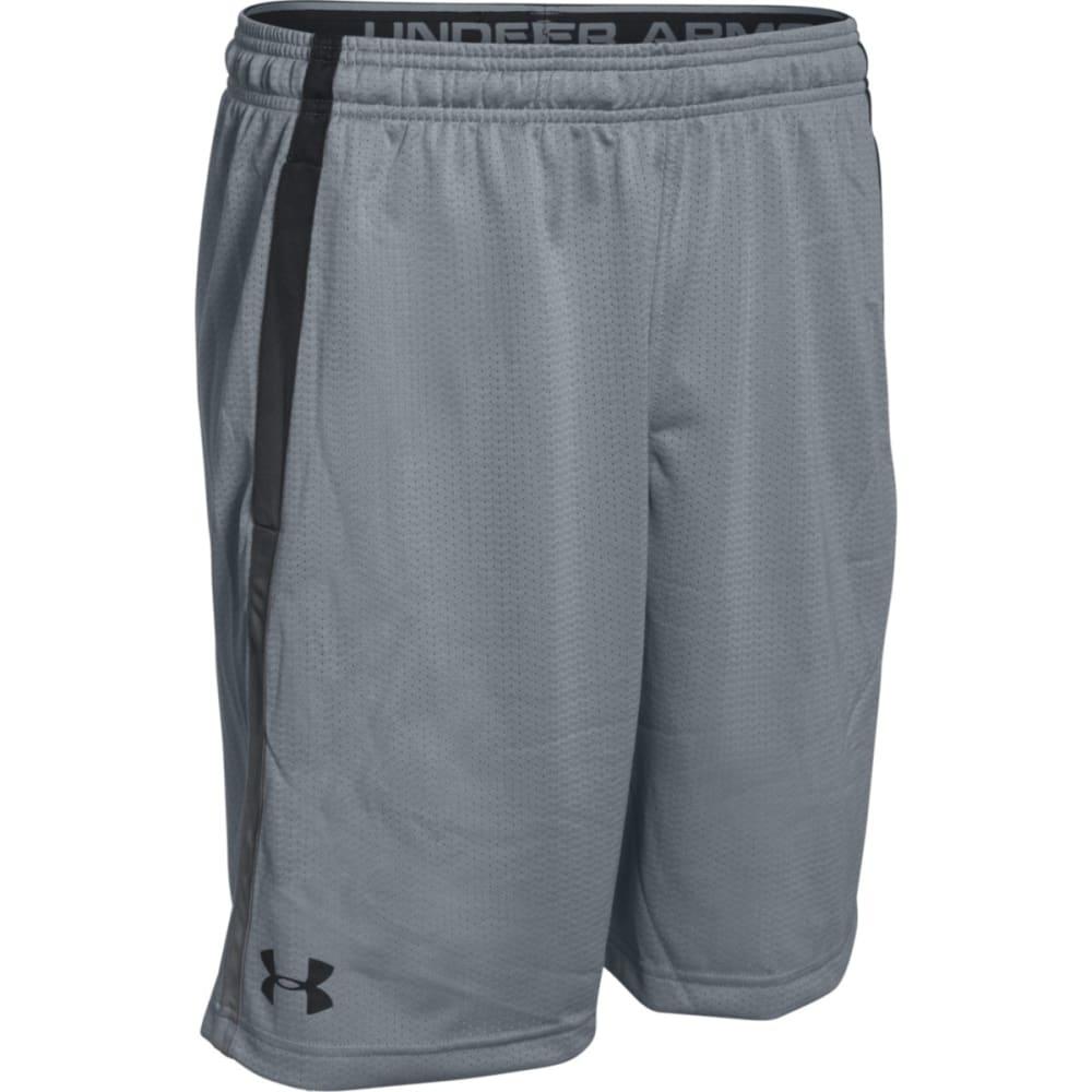 UNDER ARMOUR Men's Tech Mesh Shorts - STEEL/BLACK-035