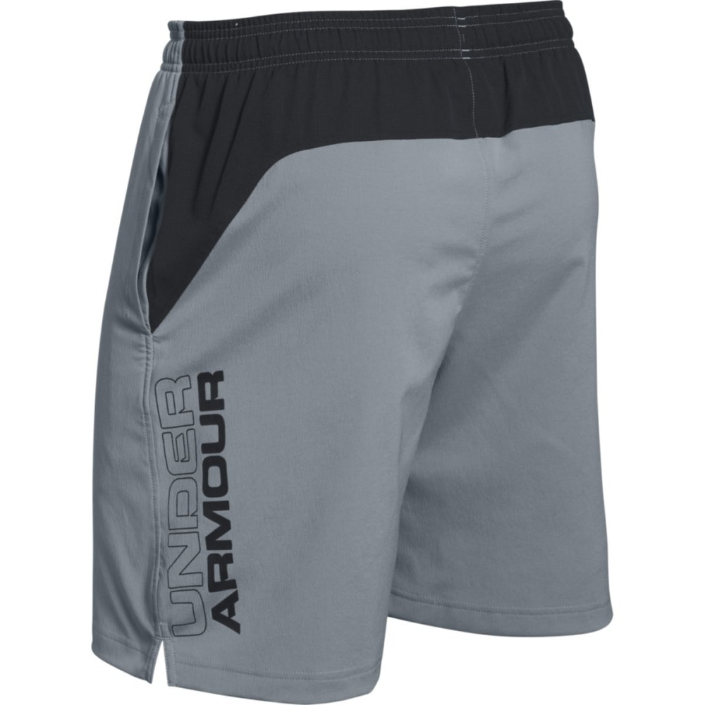 UNDER ARMOUR Men's HIIT Shorts - STEEL/BLACK-035