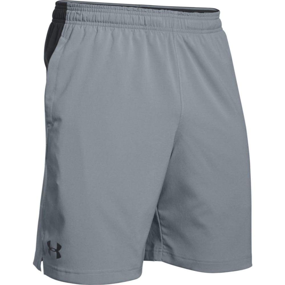 UNDER ARMOUR Men's HIIT Shorts - STEEL/BLACK-035