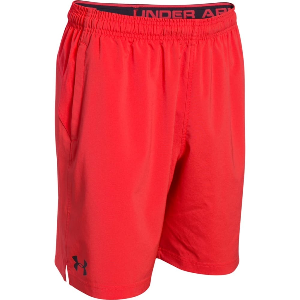 UNDER ARMOUR Men's HIIT Shorts - RED/BLACK-984