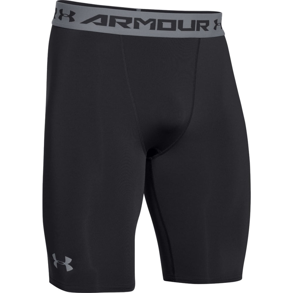 UNDER ARMOUR Men's HG Armour Compression Long Shorts - BLACK-001