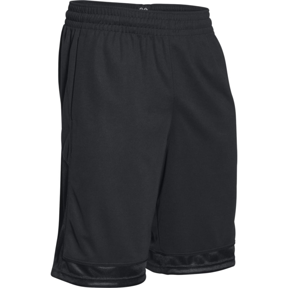 UNDER ARMOUR Men's Baseline Basketball Shorts - BLACK-001