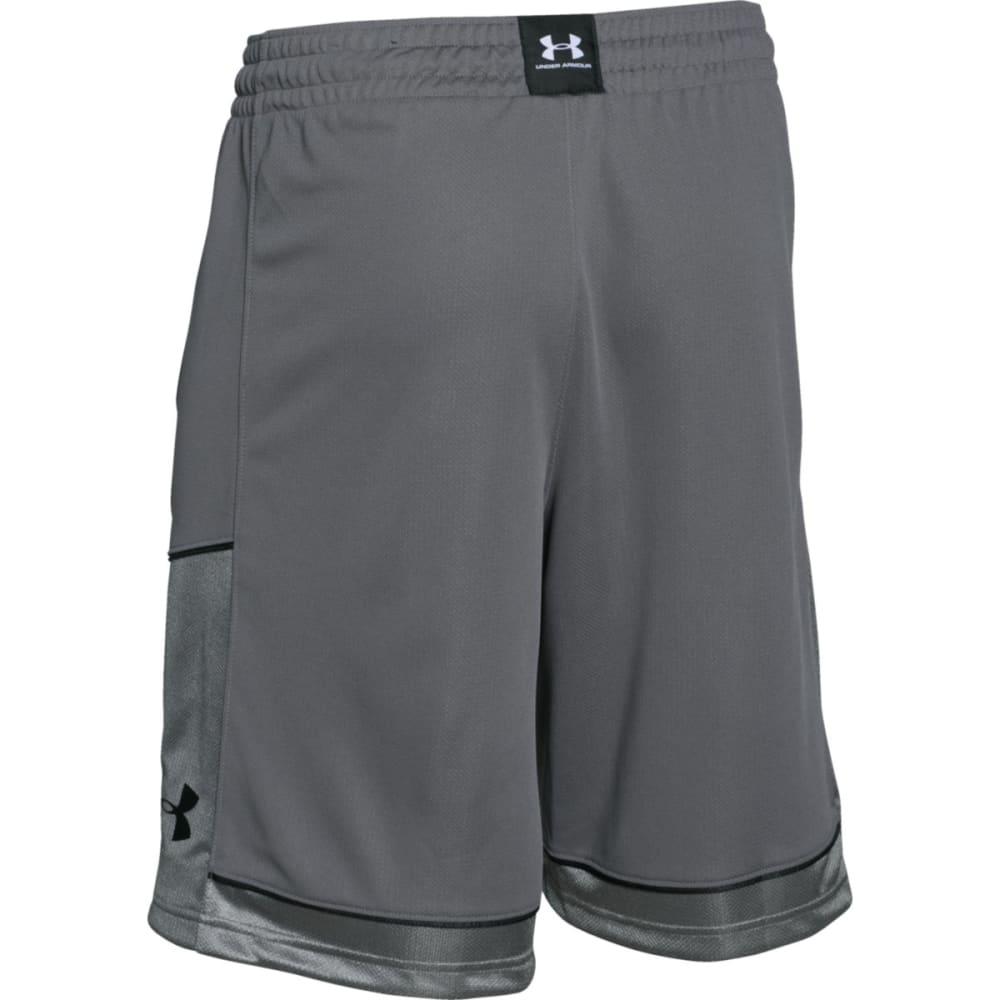 UNDER ARMOUR Men's Baseline Basketball Shorts - GRAPHITE-040