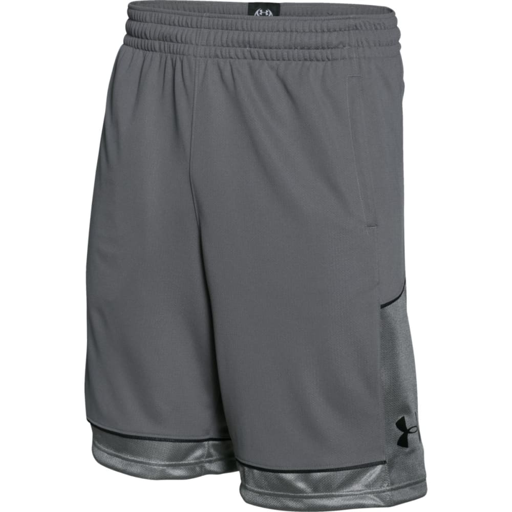 UNDER ARMOUR Men's Baseline Basketball Shorts - GRAPHITE-040