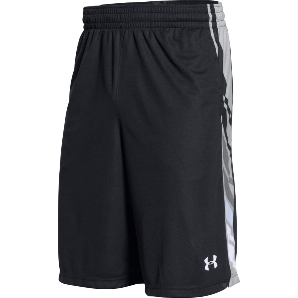 UNDER ARMOUR Men's Select Basketball Shorts - BLACK/GRAY-001