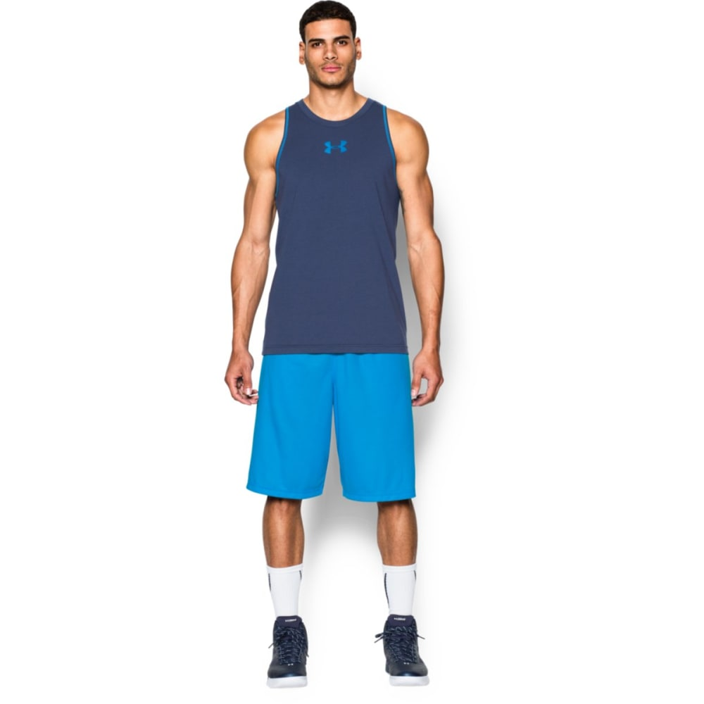 UNDER ARMOUR Men's Select Basketball Shorts - ELECTRIC BLUE-428