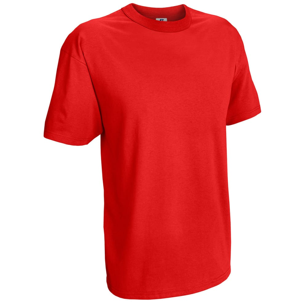 RUSSELL ATHLETIC Men's Basic Tee - TRUE RED-75