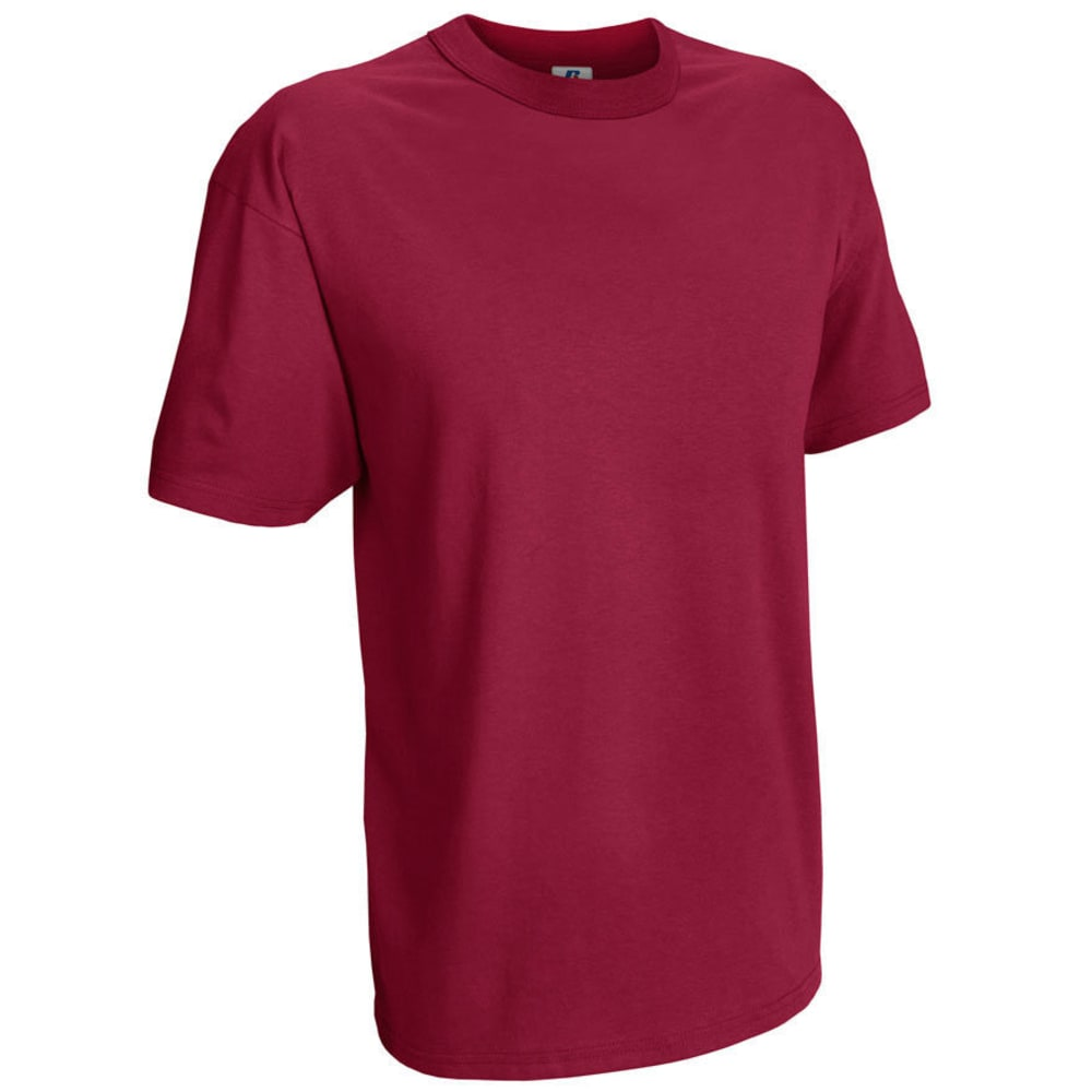 RUSSELL ATHLETIC Men's Basic Tee - VALUE DEAL - CARDINAL-39