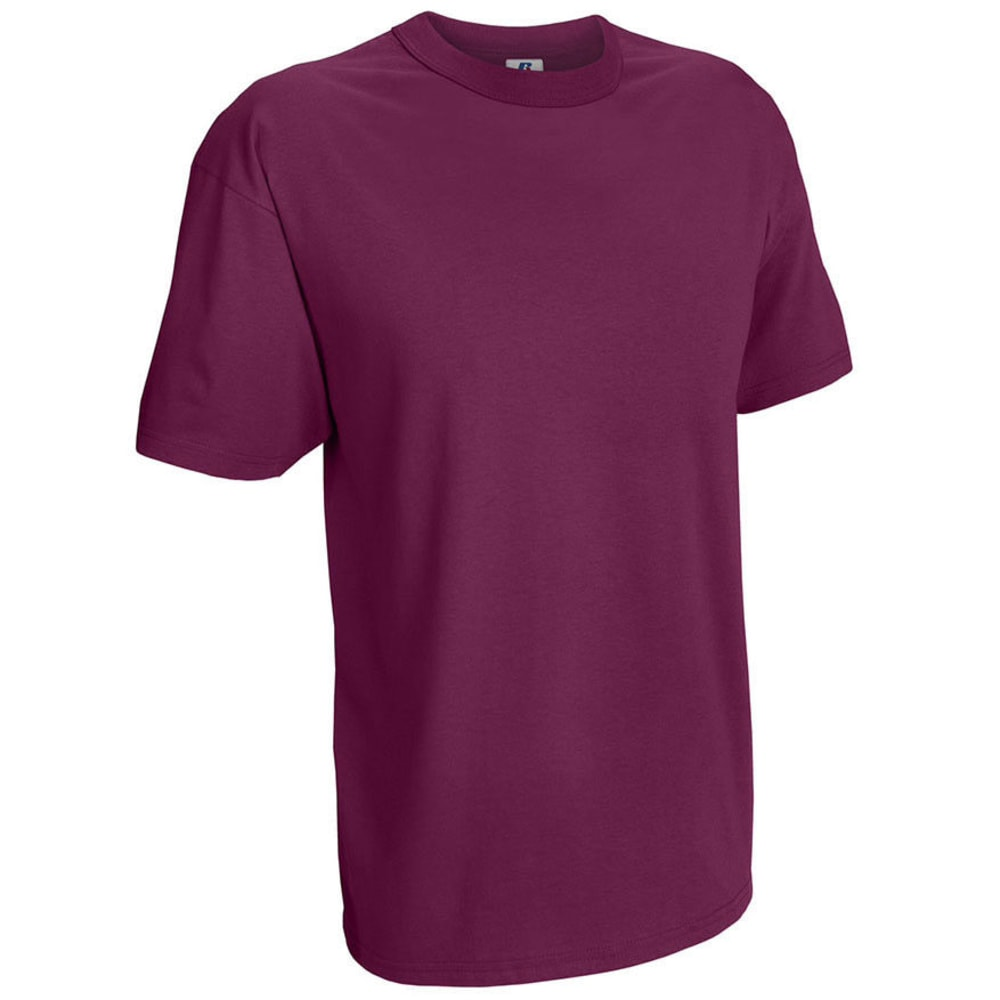 RUSSELL ATHLETIC Men's Basic Tee - MAROON-21