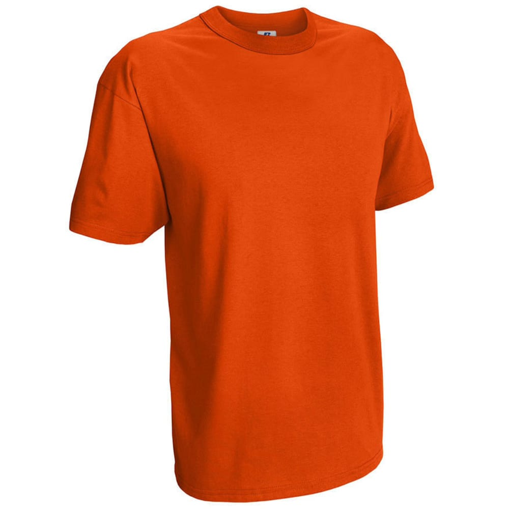 RUSSELL ATHLETIC Men's Basic Tee - VALUE DEAL - BURNT ORG-52