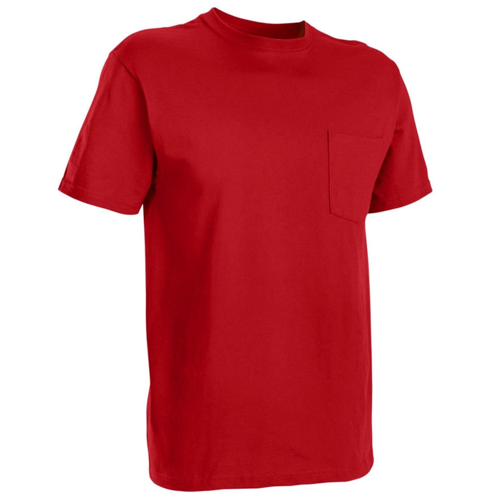 RUSSELL ATHLETIC Men's Basic Pocket Tee - TRUE RED-75