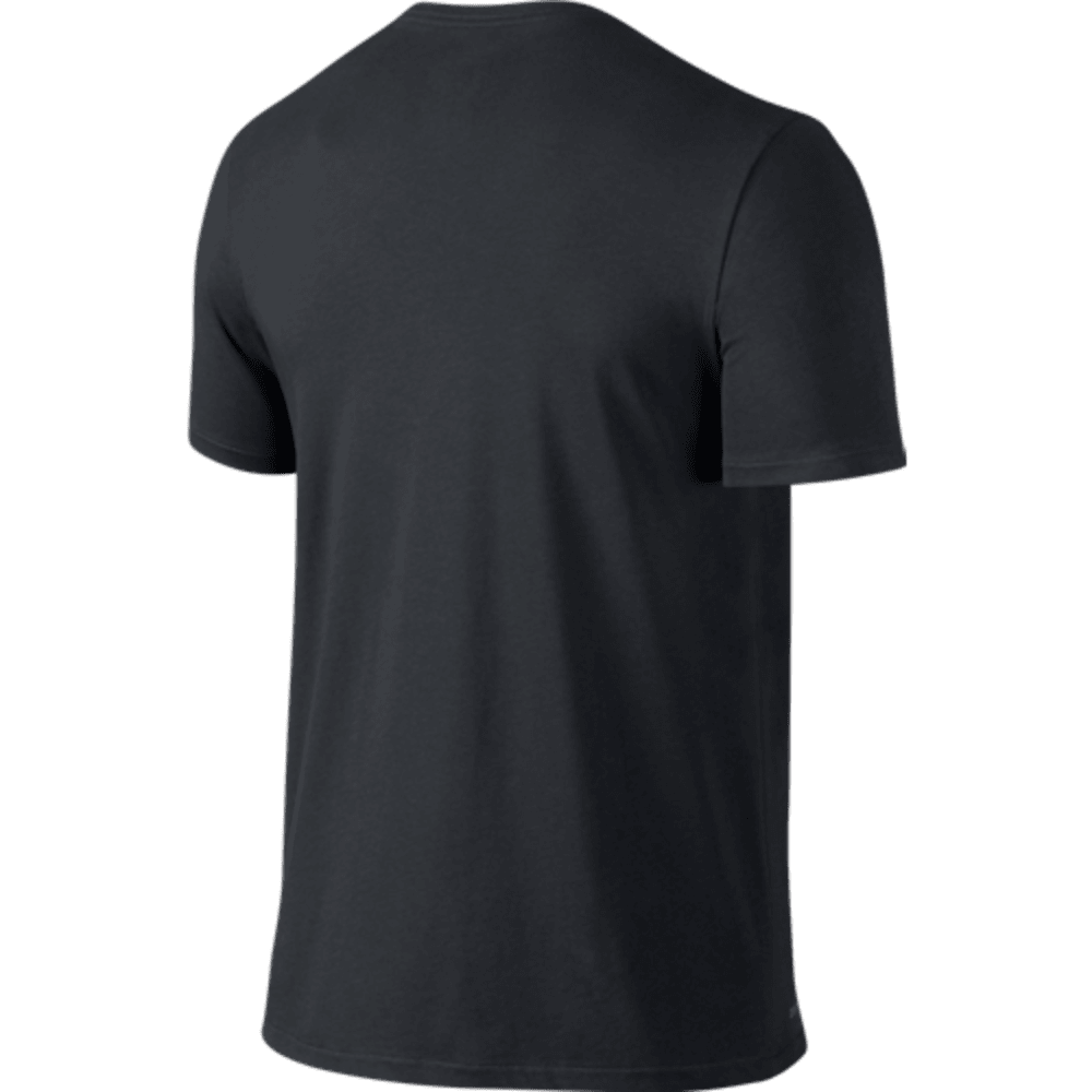NIKE Men's Dri-Fit Cotton Short Sleeve 2.0 Tee - BLACK-010