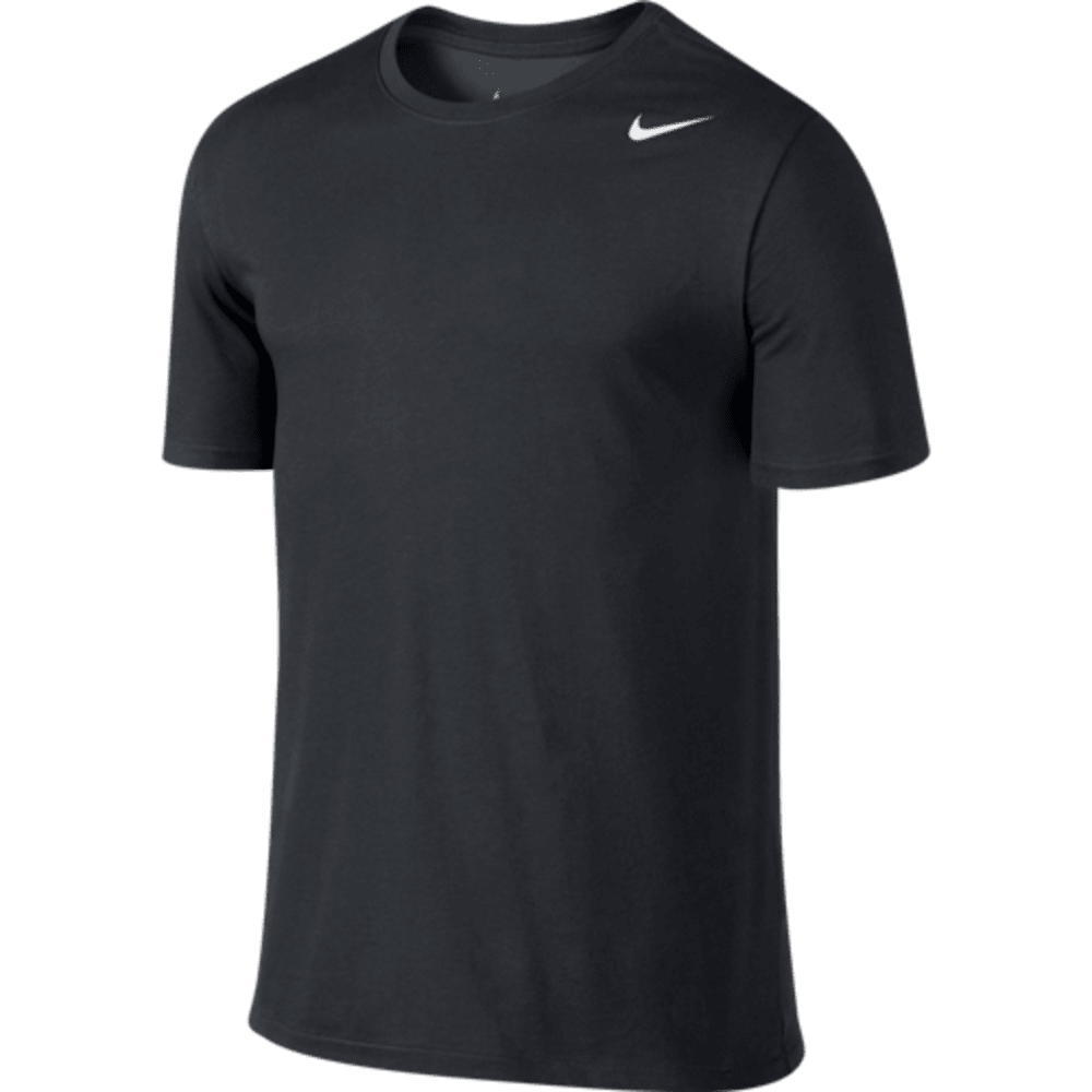 NIKE Men's Dri-Fit Cotton Short Sleeve 2.0 Tee - BLACK-010