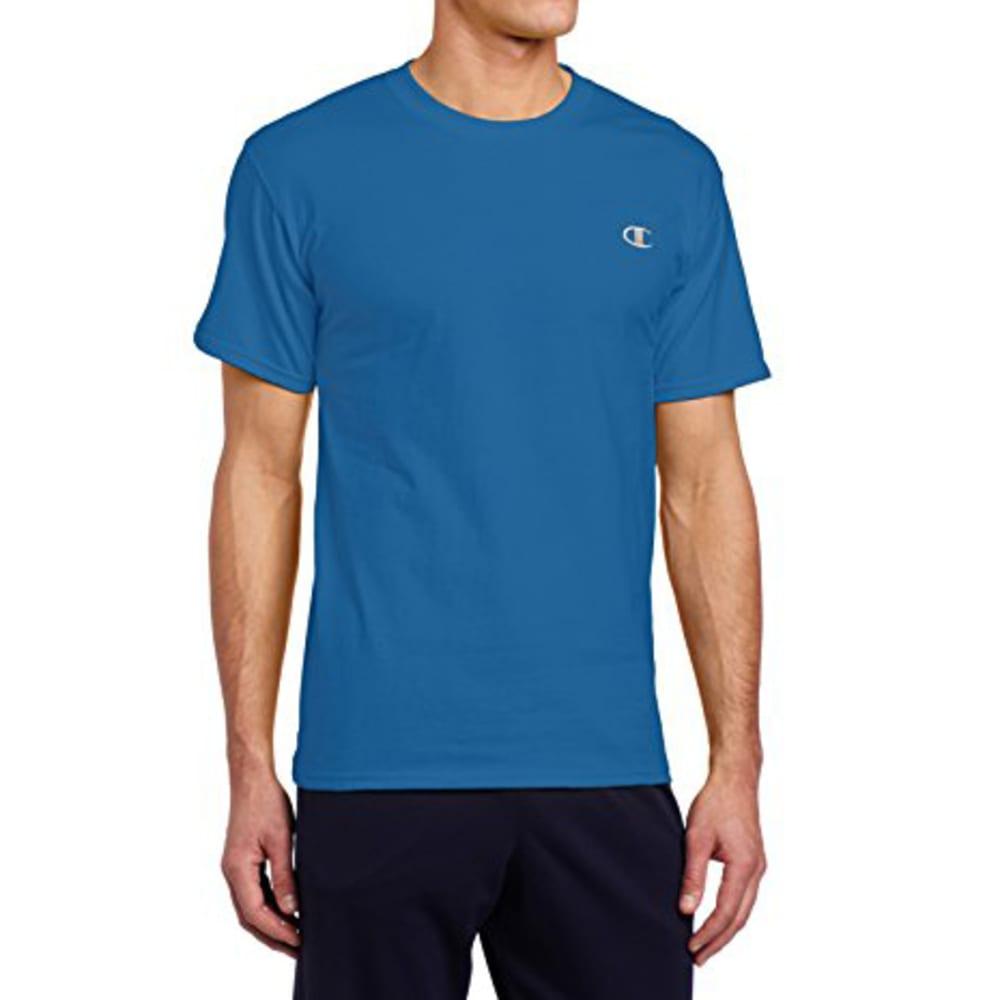 CHAMPION Men's Cotton Jersey Tee - HORIZON BLUE
