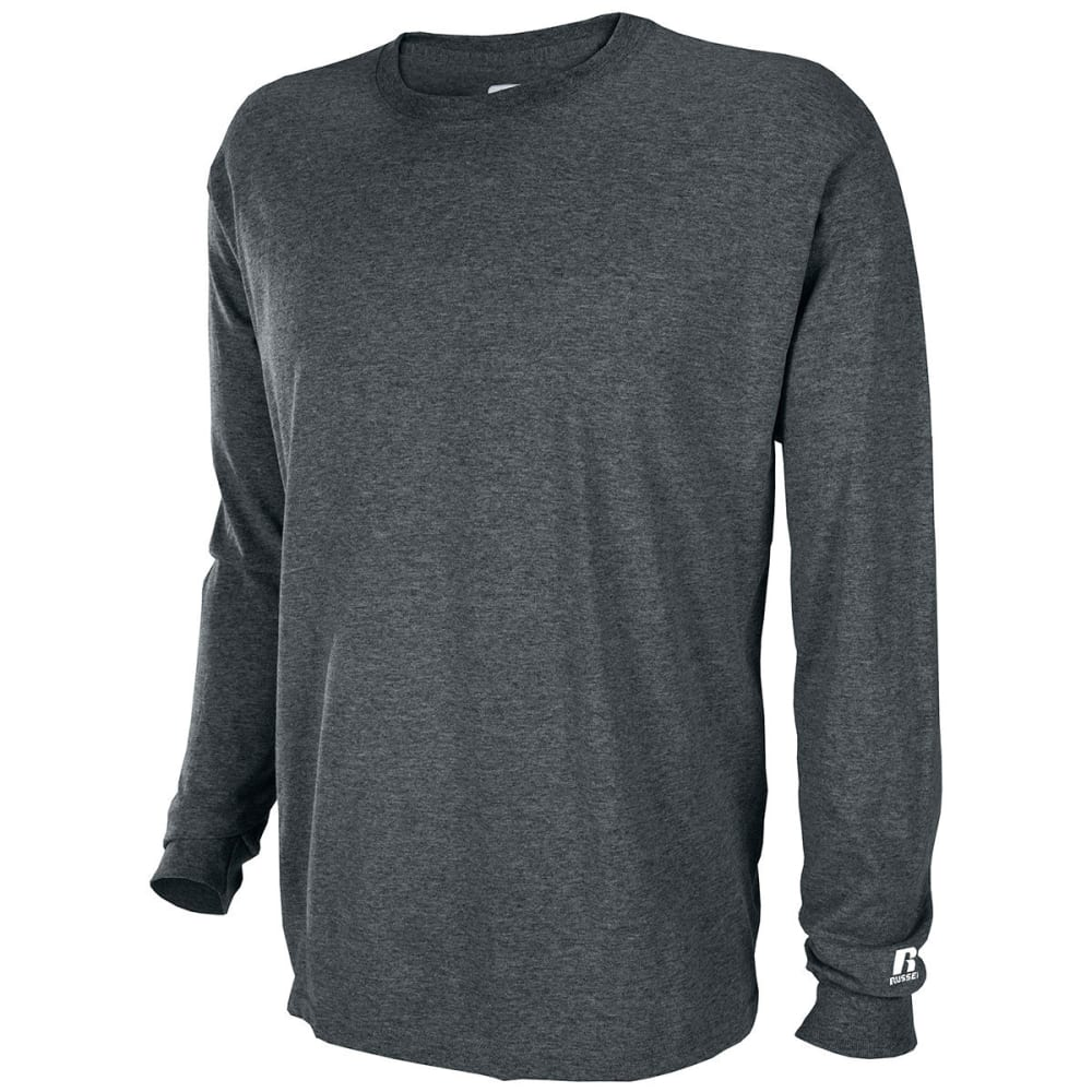 RUSSELL ATHLETIC Men's Basic Tee - BLACK HEATHER-CD1