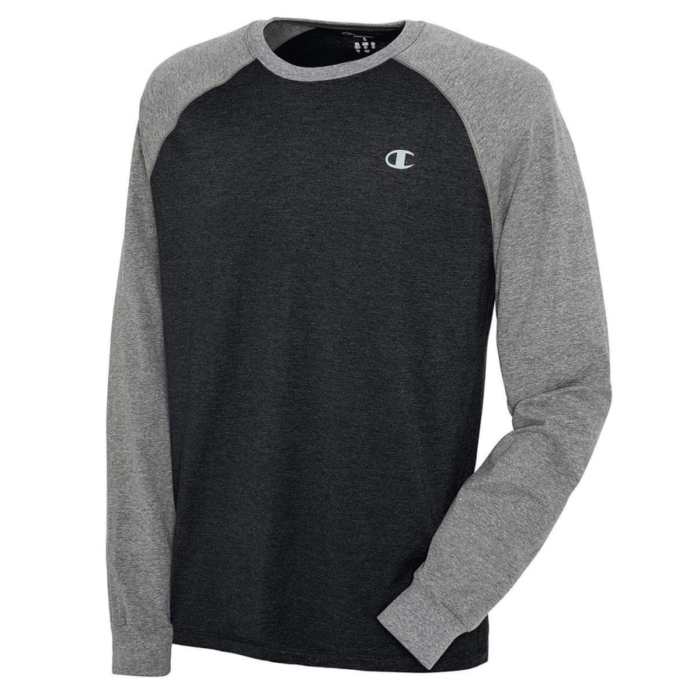 CHAMPIONS Men's Long Sleeve Vapor Shirt - EBONY HEATHER-9UT
