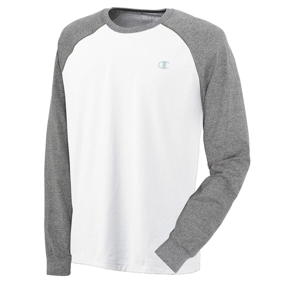 CHAMPIONS Men's Long Sleeve Vapor Shirt - WHITE/OXFORD-D3T