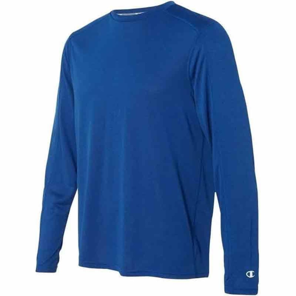 CHAMPION Men's Long Sleeve Vapor Shirt - MEDIUM BLUE