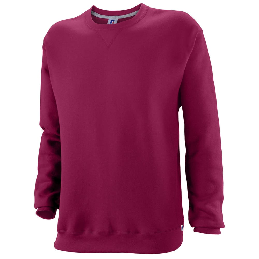 RUSSELL ATHLETIC Men's DriPower Fleece Crew - MAROON