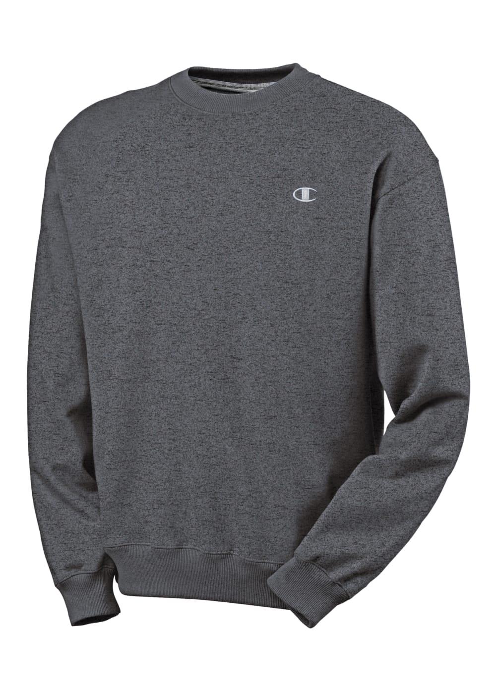 CHAMPION Men's Eco Fleece Crew Neck Sweatshirt - GRANITE HEATHER-G61