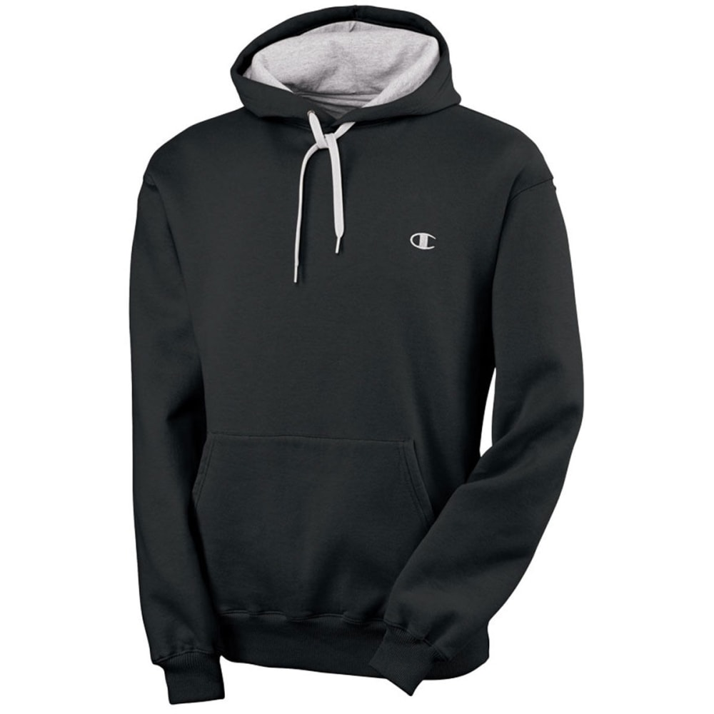 CHAMPION Men's Eco Fleece Pullover Hoodie - BLACK-003