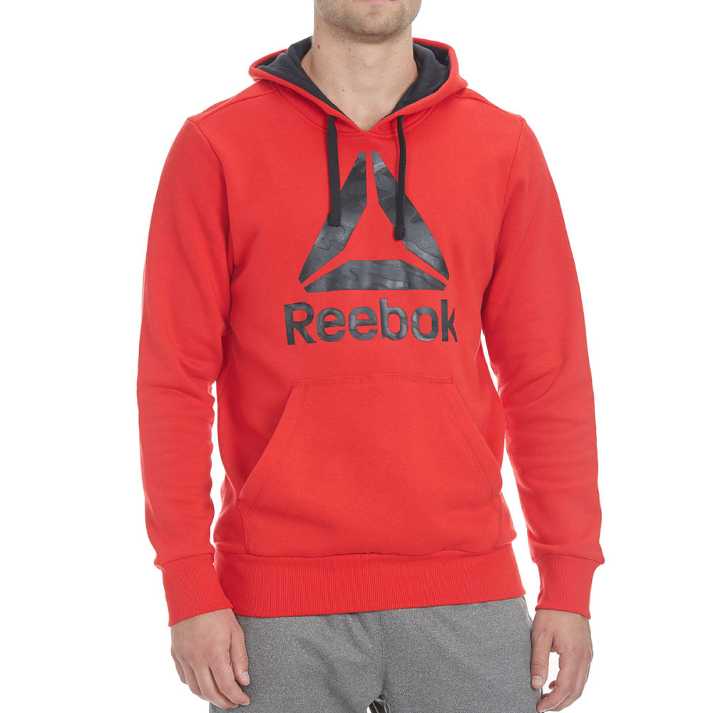 REEBOK Men's Logo Hoodie - RED RUSH