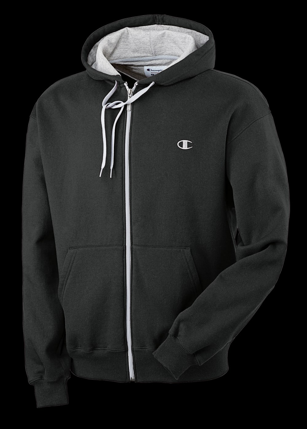 CHAMPION Men's Eco Fleece Full-Zip Hoodie - BLACK-003