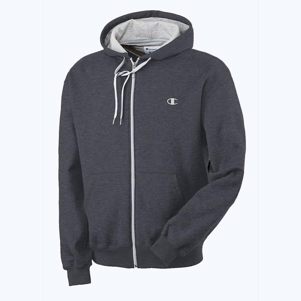 CHAMPION Men's Eco Fleece Full-Zip Hoodie - GRANITE HTHR-G61