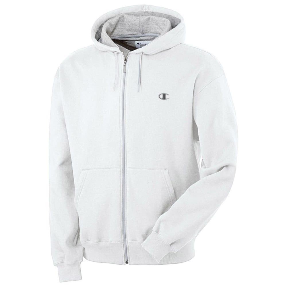 CHAMPION Men's Eco Fleece Full-Zip Hoodie - WHITE