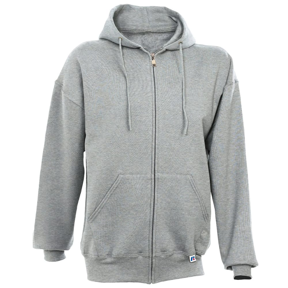 RUSSELL Men's Athletic Dri-Power Fleece Full Zip Hoodie - OXFORD