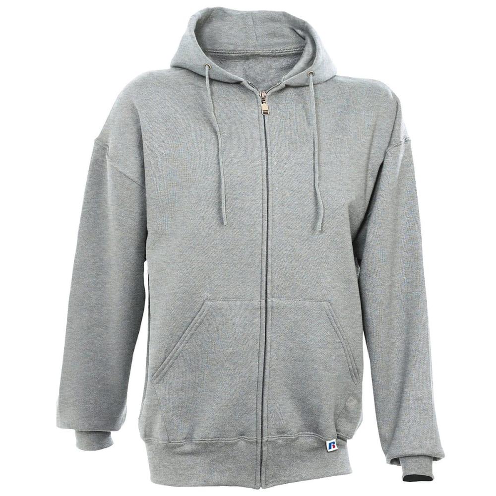 RUSSELL Men's Athletic Dri-Power Fleece Full Zip Hoodie - OXFORD