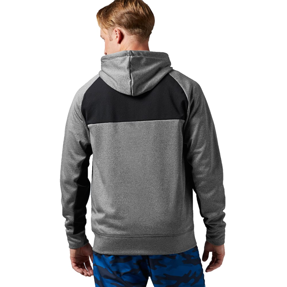 REEBOK Men's Workout Ready Poly Fleece - DARK GREY HEATHER