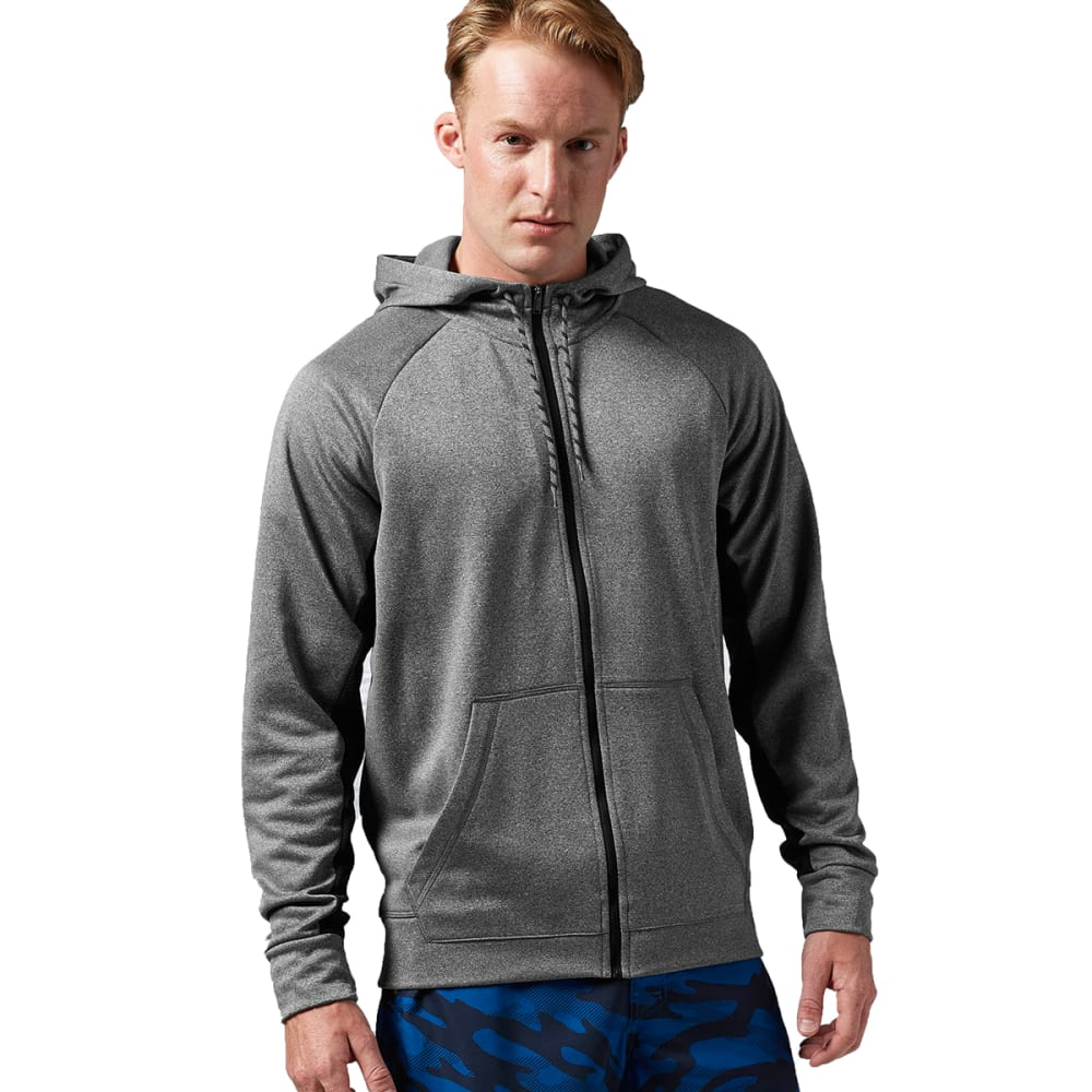 REEBOK Men's Workout Ready Poly Fleece - DARK GREY HEATHER
