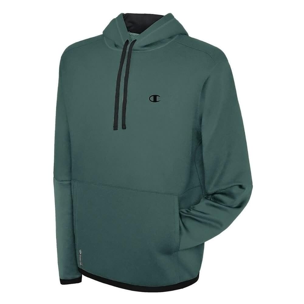 CHAMPION Men's Tech Fleece Pullover Hoodie - TAFFY GREEN-K7B