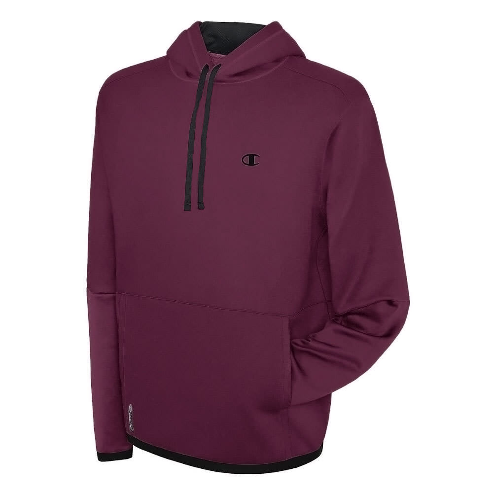 CHAMPION Men's Tech Fleece Pullover Hoodie - BORDEAUX-K77