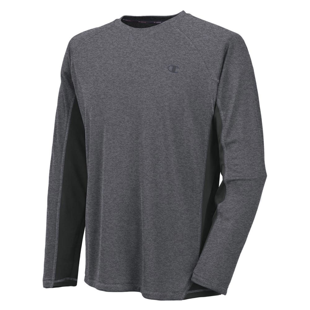 CHAMPION Men's Powertrain Long-Sleeve Tee - GRANITE HEATHER-M05
