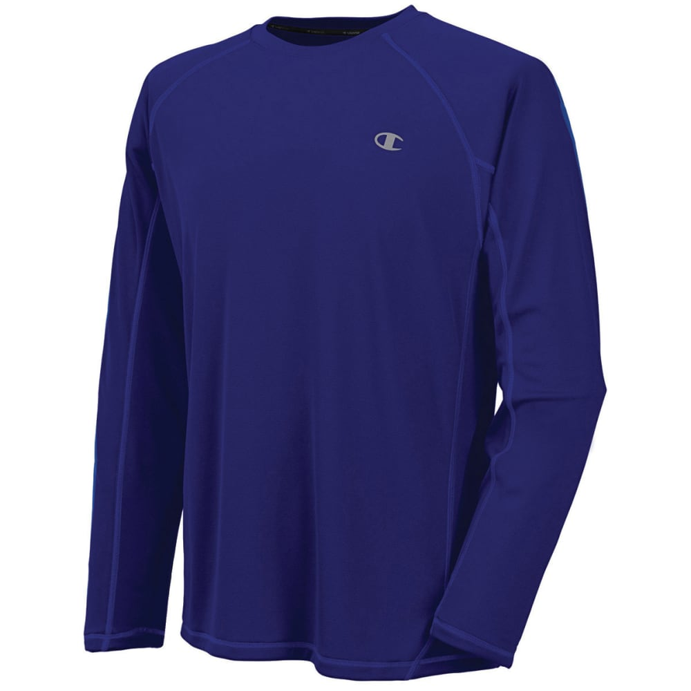 CHAMPION Men's Powertrain Long-Sleeve Tee - ULTRA MARINE-94P