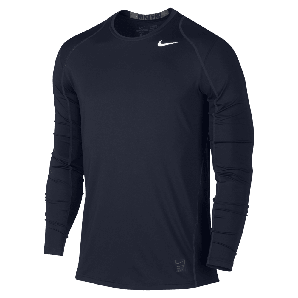 NIKE Men's Cool Fitted Long Sleeve Top - OBSIDIAN-451