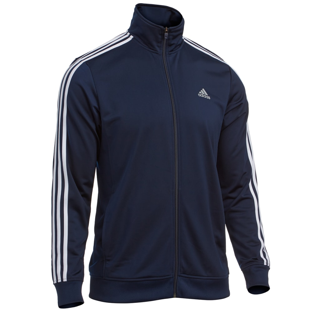 ADIDAS Men's Essential Tricot Track Jacket - NAVY/WHITE-S90418