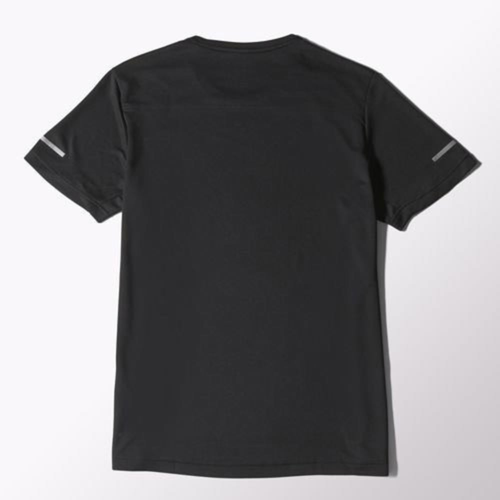 adidas Men's Sequencial Money Short Sleeve Tee - BLACK/SILVER-S03011