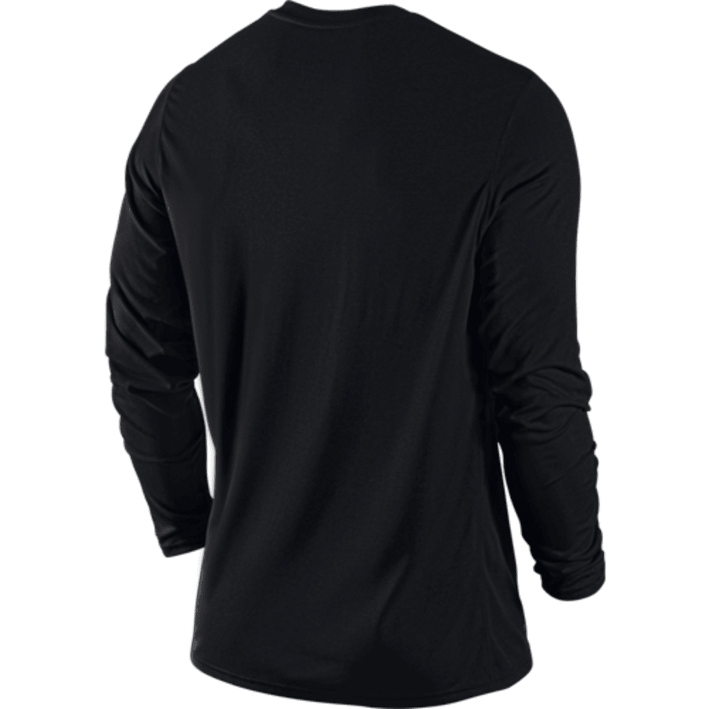 NIKE Mens' Legend Poly Long Sleeve Top - BLACK-010