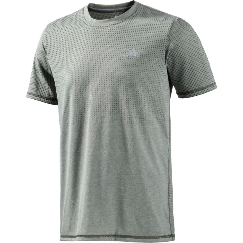 ADIDAS Men's Climacool Aeroknit Short-Sleeve  Tee - GREEN