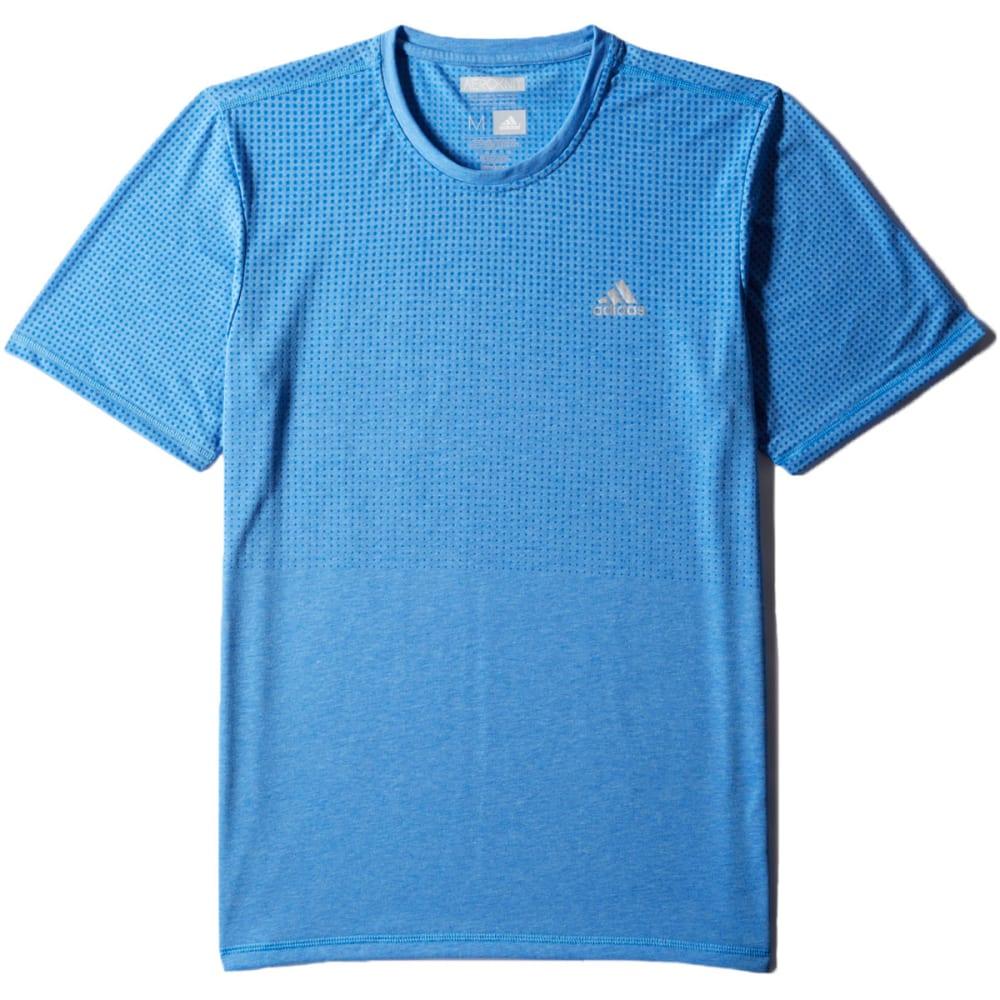 ADIDAS Men's Climacool Aeroknit Short-Sleeve  Tee - ROYAL HTHR-S11103