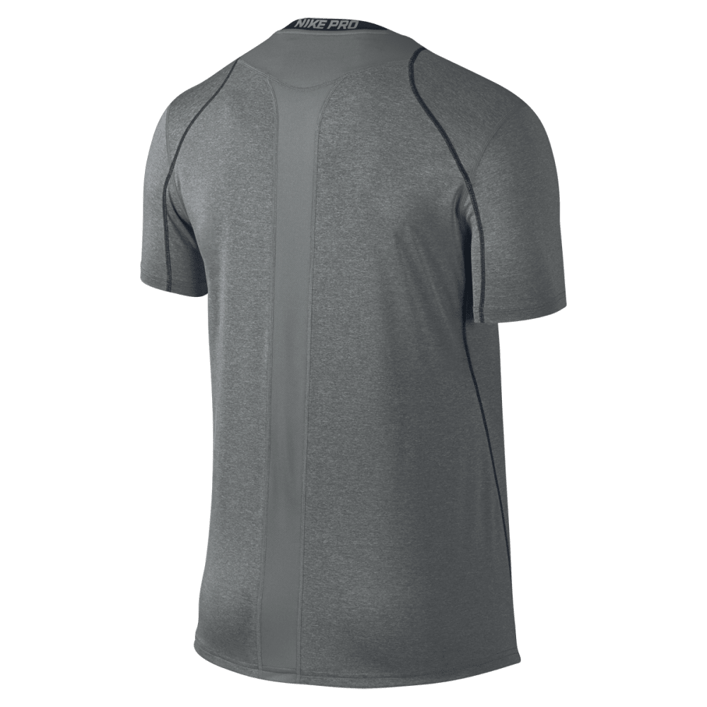 NIKE Men's Cool Fitted Short Sleeve Top - CARBON HEATHER-091