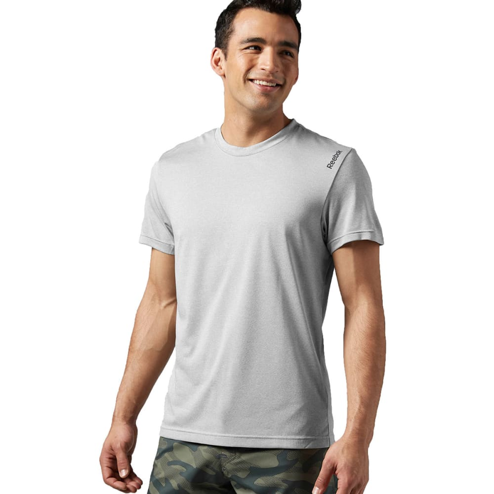 REEBOK Men's Poly Tee - MEDIUM GREY-AC0049