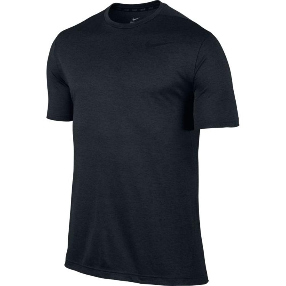 NIKE Men's Dri-Fit Training Short Sleeve Tee - BLACK-010
