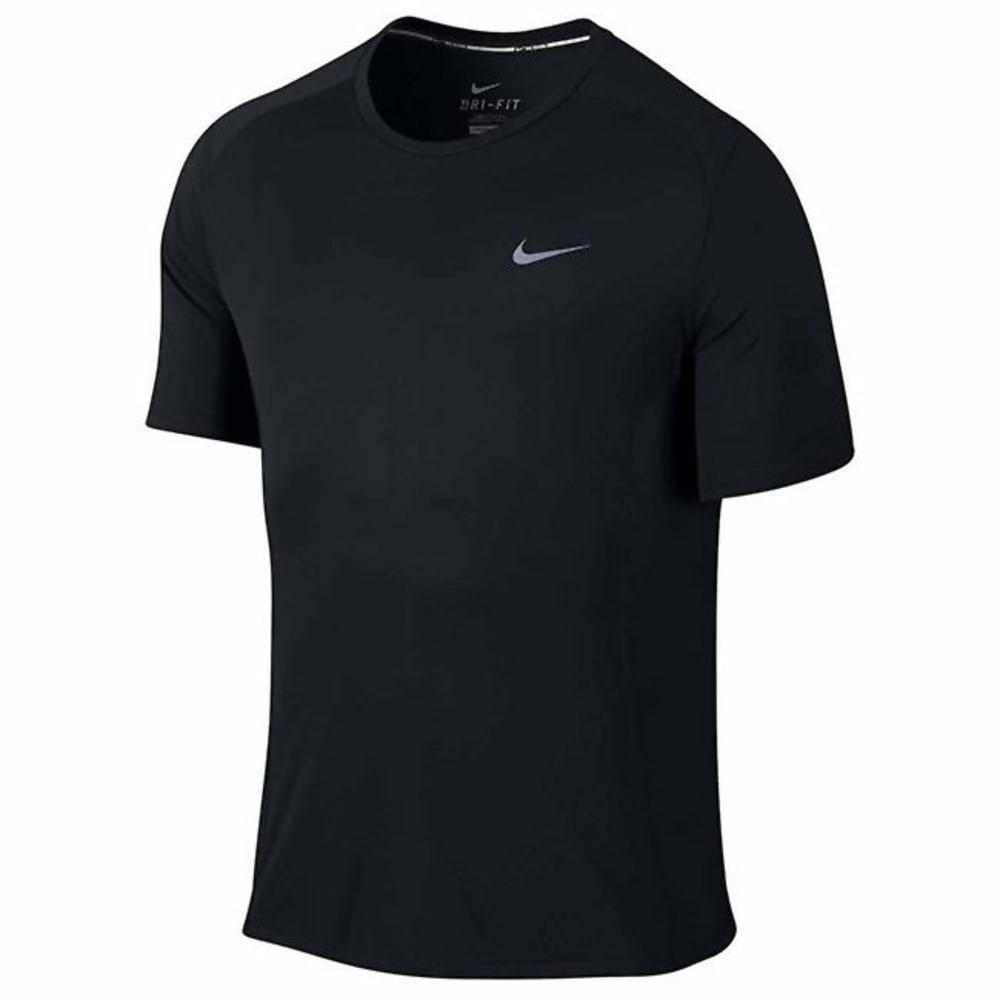 NIKE Men's DF Miler Short Sleeve Top - BLACK-010