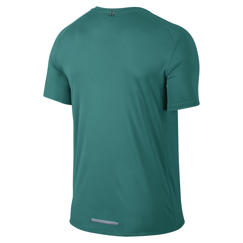 NIKE Men's DF Miler Short Sleeve Top - GREEN