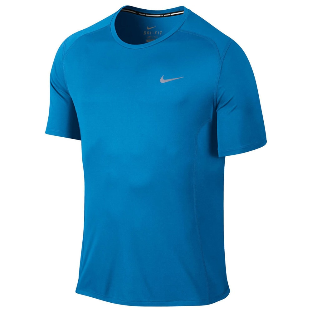 NIKE Men's DF Miler Short Sleeve Top - PHOTO BLUE-435